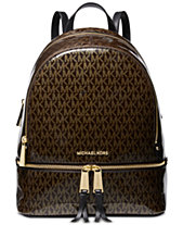MICHAEL Michael Kors Signature Glossy Rhea Zip Backpack, Created for Macy s ac35ca0ba9