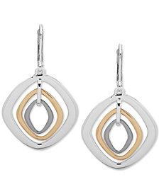 Nine West Tri-Tone Orbital Drop Earrings