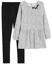 Carter's Little Girls 2-Pc. Printed Flannel Tunic & Leggings Set