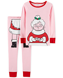 Carter's Toddler Girls 2-Pc. Cotton Mrs. Claus Pajama Set
