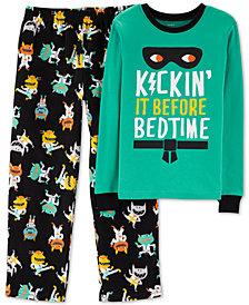 Carter's Little & Big Boys 2-Pc. Black Karate Monster Pajamas Set