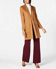 I.N.C. Petite Faux-Suede Jacket, Created for Macy's