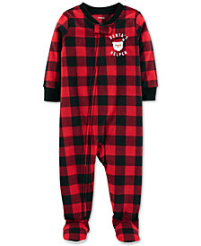Carter's Toddler Boys Buffalo-Check Footed Fleece Pajamas