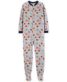 Carter's Little & Big Boys 1-Pc. Sport-Print Pajamas
