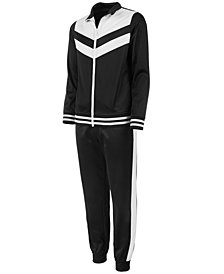 Ideology Big Girls Colorblocked Track Jacket & Pants, Created for Macy's