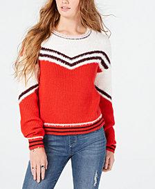 Oh!MG Juniors' Eyelash-Trim Striped Sweater