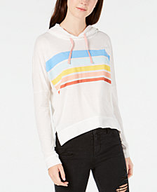 Love Tribe Juniors' Striped Hoodie Sweatshirt