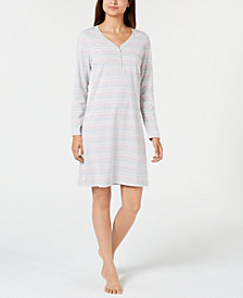 Charter Club Henley Knit Sleepshirt, Created for Macy's