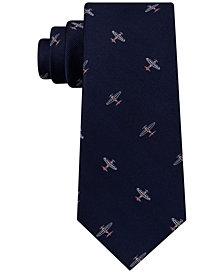 Tommy Hilfiger Men's Flex Vintage Plane Silk Tie