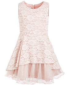 Bonnie Jean Big Girls Metallic Lace Dress