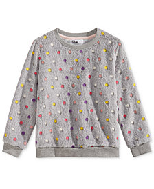 Epic Threads Little Girls Multi-Color Dot Plush Sweatshirt, Created for Macy's