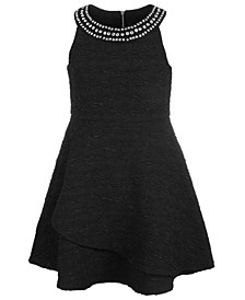 Big Girls Embellished-Neck Fit & Flare Dress