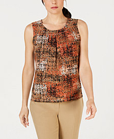 Kasper Printed Sleeveless Blouse