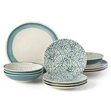 Lenox Market Place Indigo 12-Pc. Dinnerware Set, Service for 4