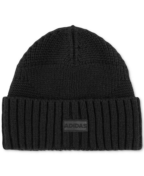 ffc40b090bf6e adidas Men s Pine Knot Mixed-Stitch Beanie   Reviews - Hats