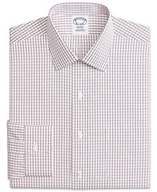 Brooks Brothers Men's Regent Fitted Non-Iron Windowpane Dress Shirt
