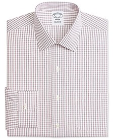 Brooks Brothers Men's Regent Fitted Non-Iron Windowpane Dress Shirt