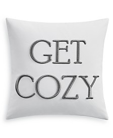 "Charter Club Damask Designs Word Embroidered 16"" Square Decorative Pillow, Created for Macy's"