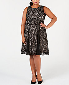 Taylor Plus Size Lace Dress