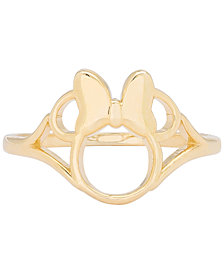 Disney© Children's Minnie Mouse Ring in 14k Gold