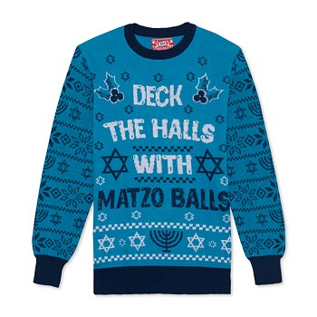 Hybrid Matzo Balls Men's Holiday Sweater