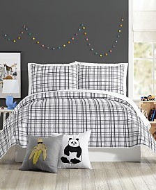 Urban Playground Marquis Charcoal Full/Queen Quilt Set - 3 Piece