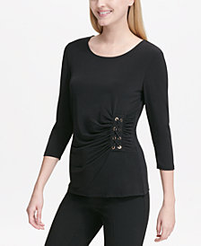 Calvin Klein Side Lace-Up Top