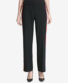 Calvin Klein Side-Stripe Wide Leg Pants