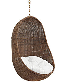 Bean Outdoor Patio Swing Chair Without Stand