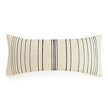 "Embroidered Stripe 12"" x 26"" Decorative Pillow"