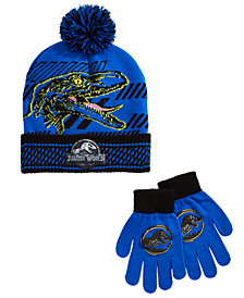 Berkshire Little & Big Boys 2-Pc. Jurassic World Hat & Gloves Set