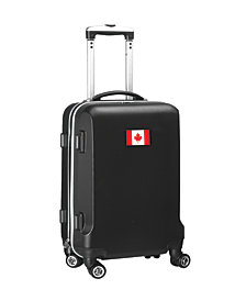 """21"""" Carry-On 100% ABS Hardcase Spinner Luggage - Canada Flag"""