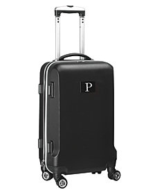"""21"""" Carry-On Hardcase Spinner Luggage - 100% ABS With Letter P"""