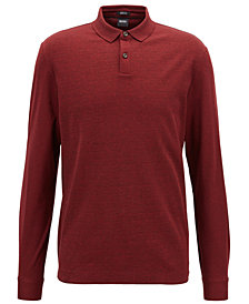 BOSS Men's Regular/Classic-Fit Long-Sleeve Polo