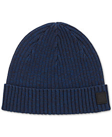 BOSS Men's Ribbed Beanie