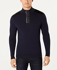 I.N.C. Men's Jasper Quarter-Zip Sweater, Created for Macy's