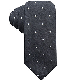 Ryan Seacrest Distinction™ Men's Umbria Printed Dot Slim Silk Tie, Created for Macy's