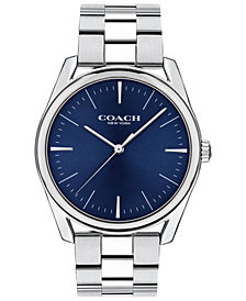 COACH Men's Preston Stainless Steel Bracelet Watch 41mm