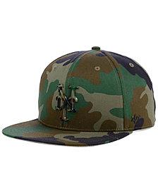 '47 Brand New York Mets Camo Snapback Cap