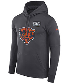 Nike Men's Chicago Bears Crucial Catch Therma Hoodie
