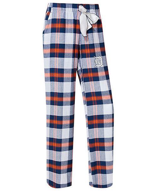 Concepts Sport College Concepts Women's Detroit Tigers Headway Flannel Pajama Pants