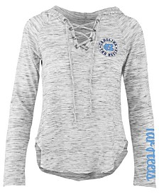 Pressbox Women's North Carolina Tar Heels Spacedye Lace Up Long Sleeve T-Shirt