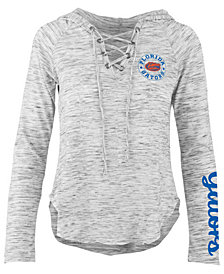 Pressbox Women's Florida Gators Spacedye Lace Up Long Sleeve T-Shirt