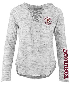 Pressbox Women's Florida State Seminoles Spacedye Lace Up Long Sleeve T-Shirt