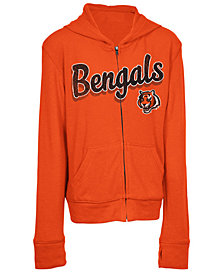 5th & Ocean Cincinnati Bengals Sweater Full-Zip Hoodie, Girls (4-16)
