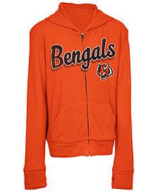 5th & Ocean Cincinnati Bengals Sweater Full-Zip Hoodie, Girls (4-16)