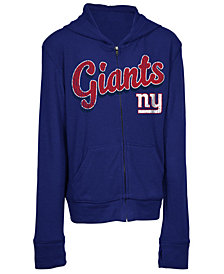 5th & Ocean New York Giants Sweater Full-Zip Hoodie, Girls (4-16)