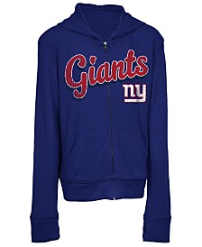 5th & Ocean New York Giants Sweater Full-Zip Hoodie, Girls (4-16)