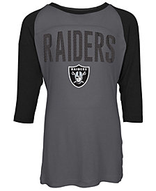 5th & Ocean Oakland Raiders Raglan T-Shirt, Girls (4-16)