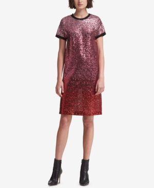 DKNY Sequin T-Shirt Dress, Created For Macy'S in Blush